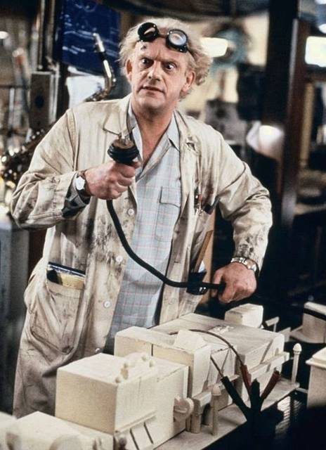"Christopher Lloyd en ""Regreso al Futuro II"", 1989 
