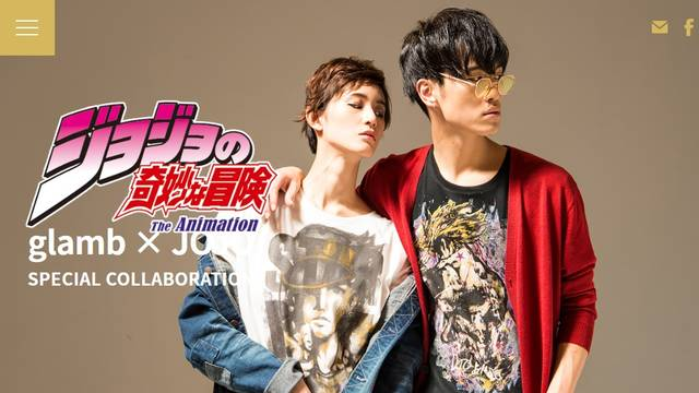 "glamb × JOJO'S BIZARRE ADVENTURE""STARDUST CRUSADERS"" 
