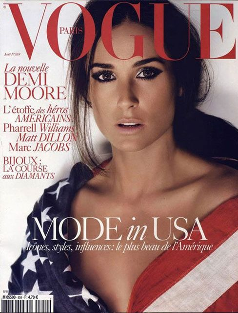 Demi Moore on the August 20...
